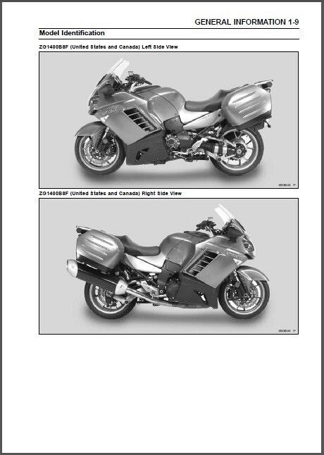 2007 2008 2009 kawasaki 1400gtr concours 14 abs zg 1400 service rh unisquare com 2008 kawasaki concours 14 service manual 2008 Kawasaki Concours 1400 ABS