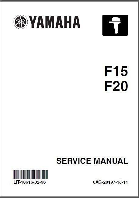 Yamaha F15 F20 4-Stroke Outboard Motors Service Manual on a CD