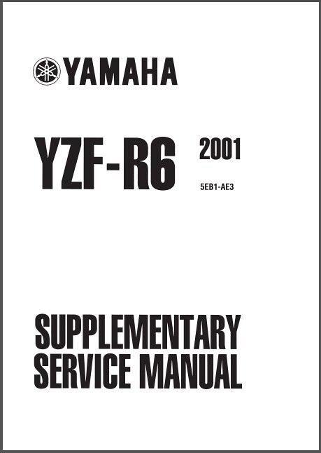 Yamaha R  Shop Manual
