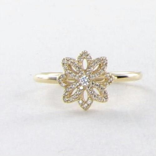 8ebaa4e51 Pandora 150182CZ Ring Sz 9.25 60 Lace Botanique Zirconia 14k Y Gold NEW  $400 For Sale - Item #1704366