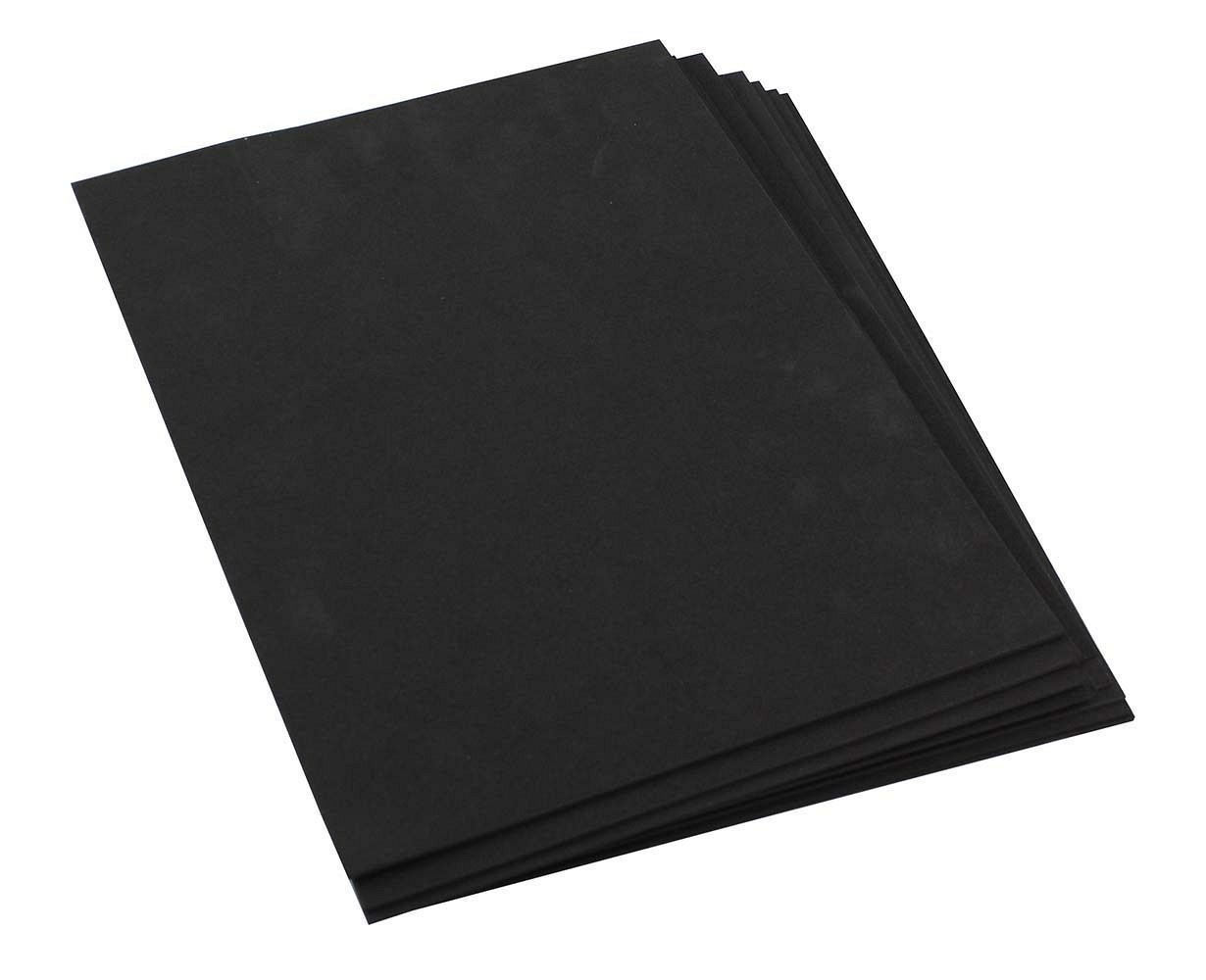 Craft Foam Sheets--9 x 12 Inches - Black - 10 Sheets-2 MM Thick