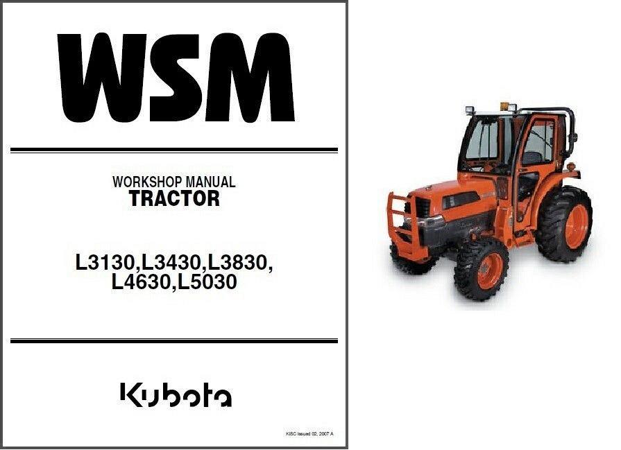 kubota l3130 l3430 l3830 l4630 l5030 tractor wsm service manual on a rh unisquare com kubota l3130 operators manual kubota l3130 service manual free download