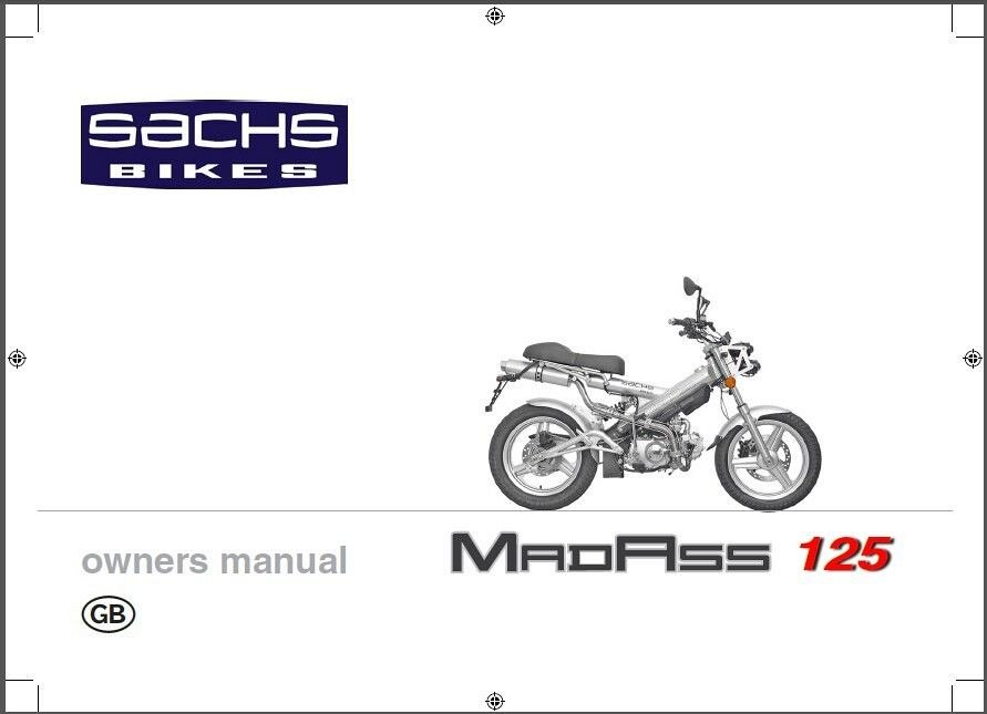 Sachs MadAss Service & Owners Manual CD - Tomberlin Xkeleton Trickster AMG  Nitro