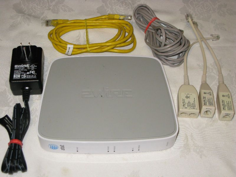 x2 - AT T 2WIRE 2701HG B Gateway WIRELESS modem ROUTER DSL WiFi ...