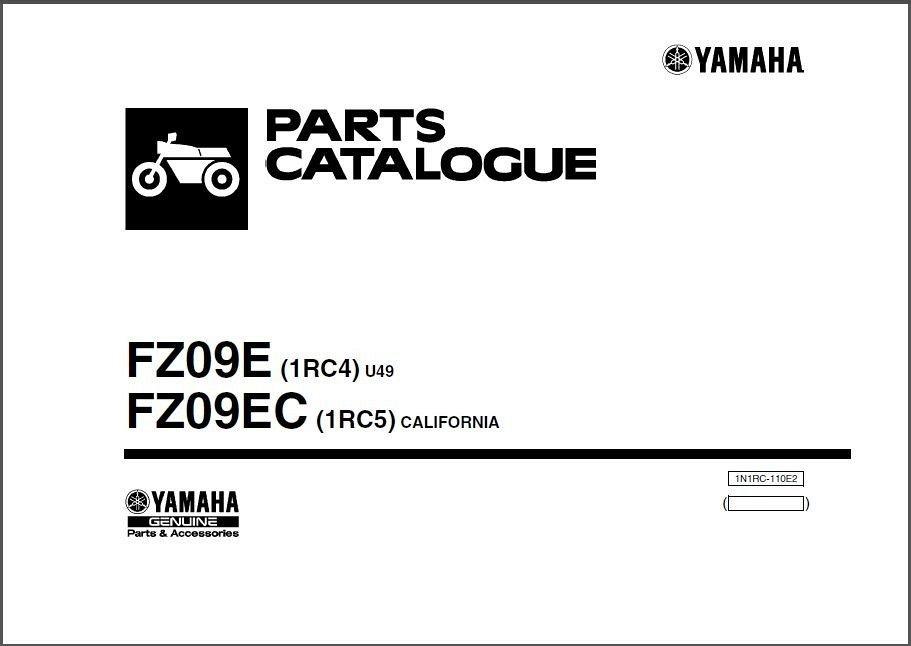 yamaha fz09 2013 2015 service repair workshop manual