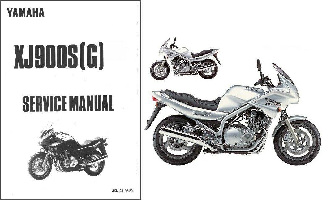 94 04 Yamaha Xj900s Diversion Service Repair Manual Cd Xj 900 S Xj900 900s For Sale