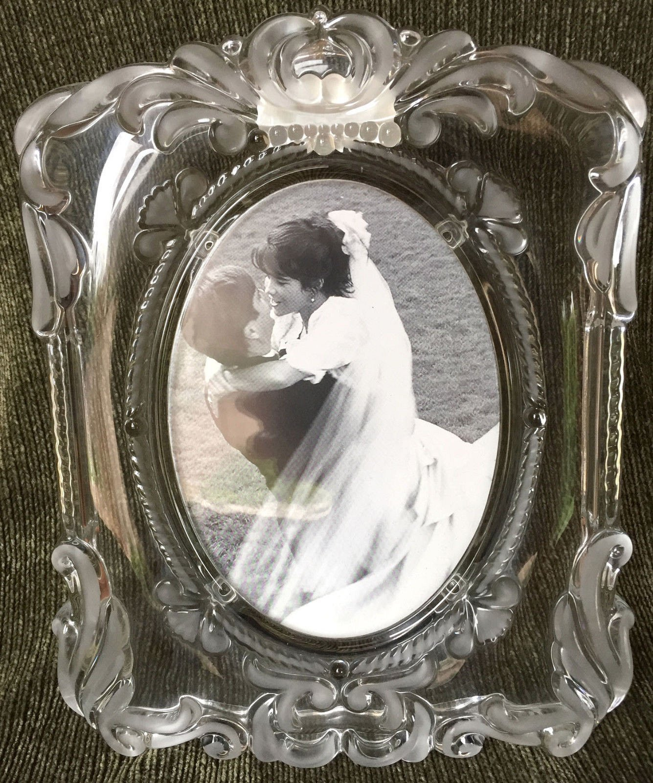 Unique Mikasa Crystal Wedding Picture Frame