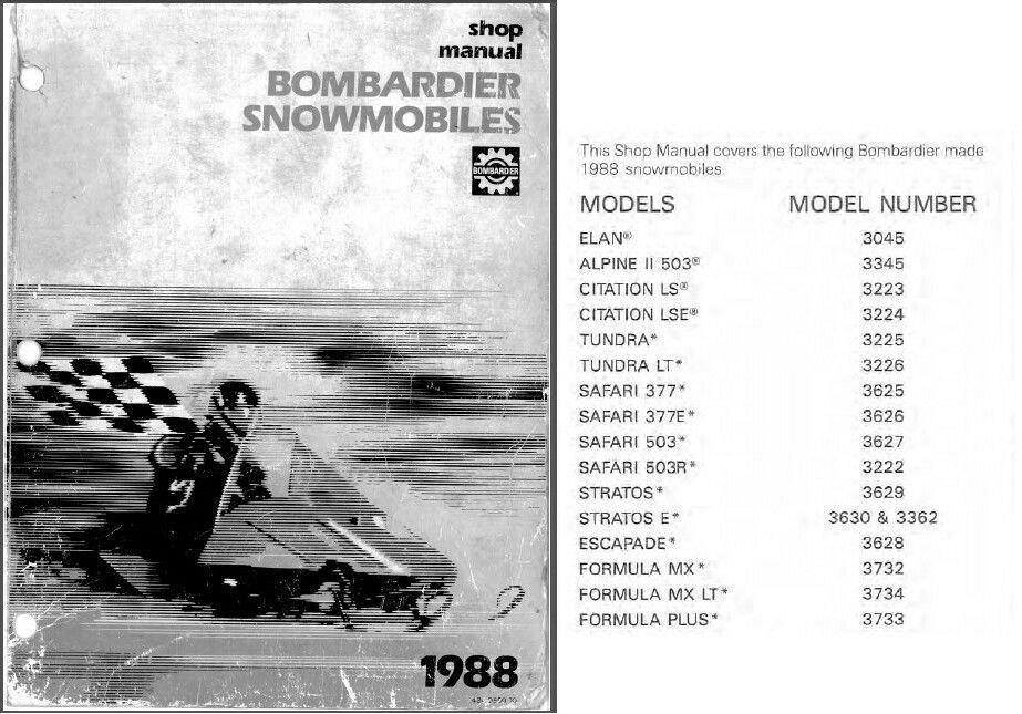 1988 ski doo service repair shop manual cd stratos elan tundra rh unisquare com Kawasaki MX Ski-Doo Formula MX