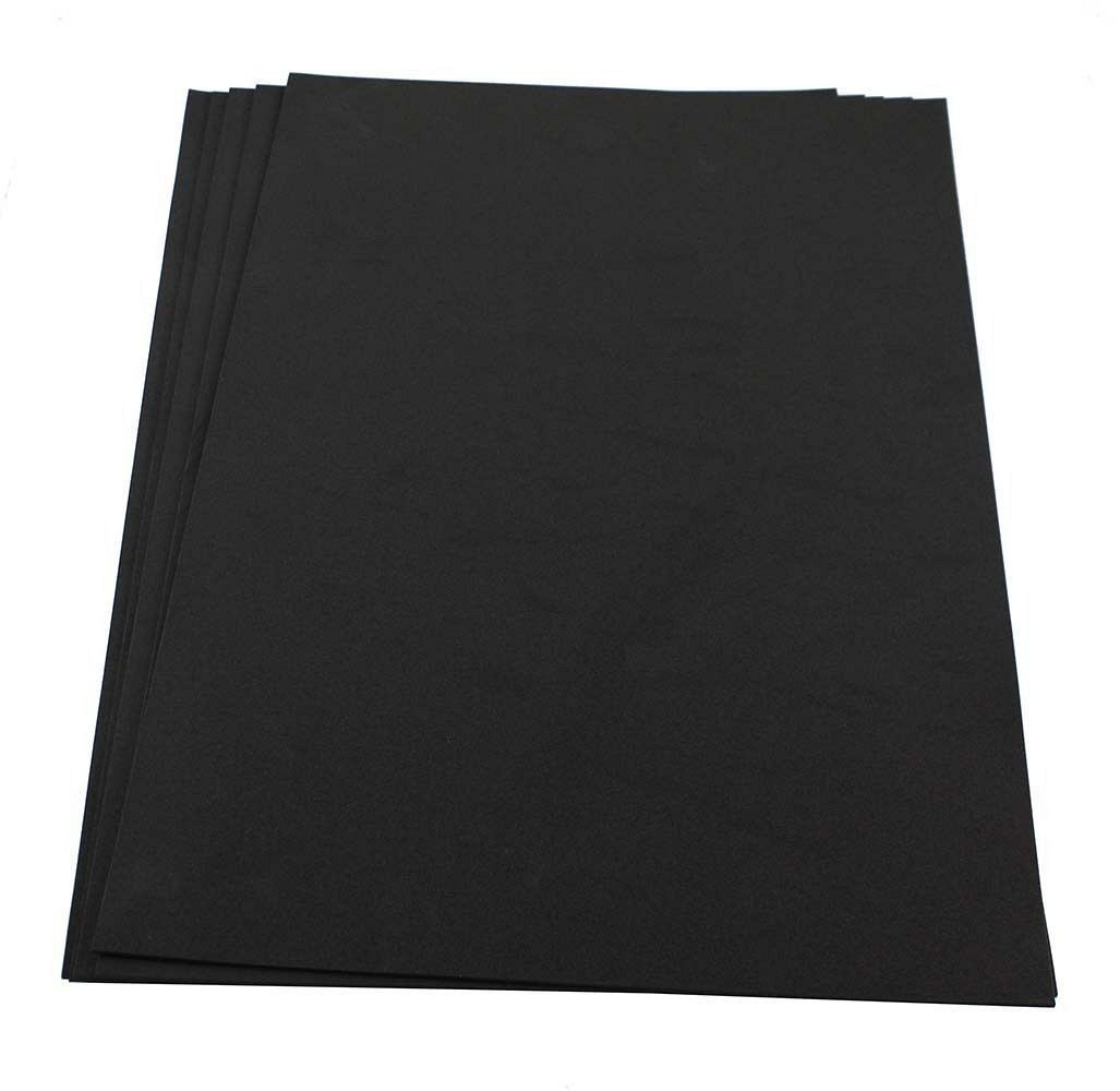 Craft Foam Sheets--12 x 18 Inches - Black - 5 Sheets-2 MM Thick