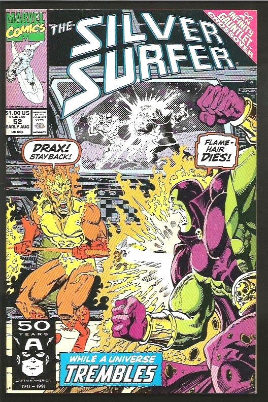 silver surfer 52 infinity gauntlet crossover nm guardians of the