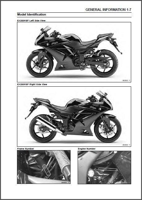 08-12 Kawasaki Ninja 250R FI Service Repair Workshop Manual CD - 250 R