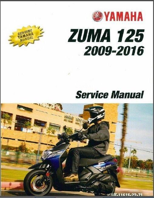 2009 2016 yamaha zuma 125 yw125 scooter service manual on a cd rh unisquare com Honda Ruckus Yamaha BWS 150