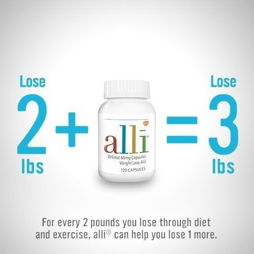 Alli Orlistat Fda Approved 60 Milligram Weight Loss Aid 120 Capsules