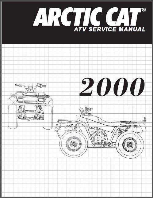 2000 Arctic Cat 250 300 400 500 ATV Service Manual on a CD
