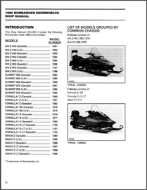 free ski doo snowmobile service manuals