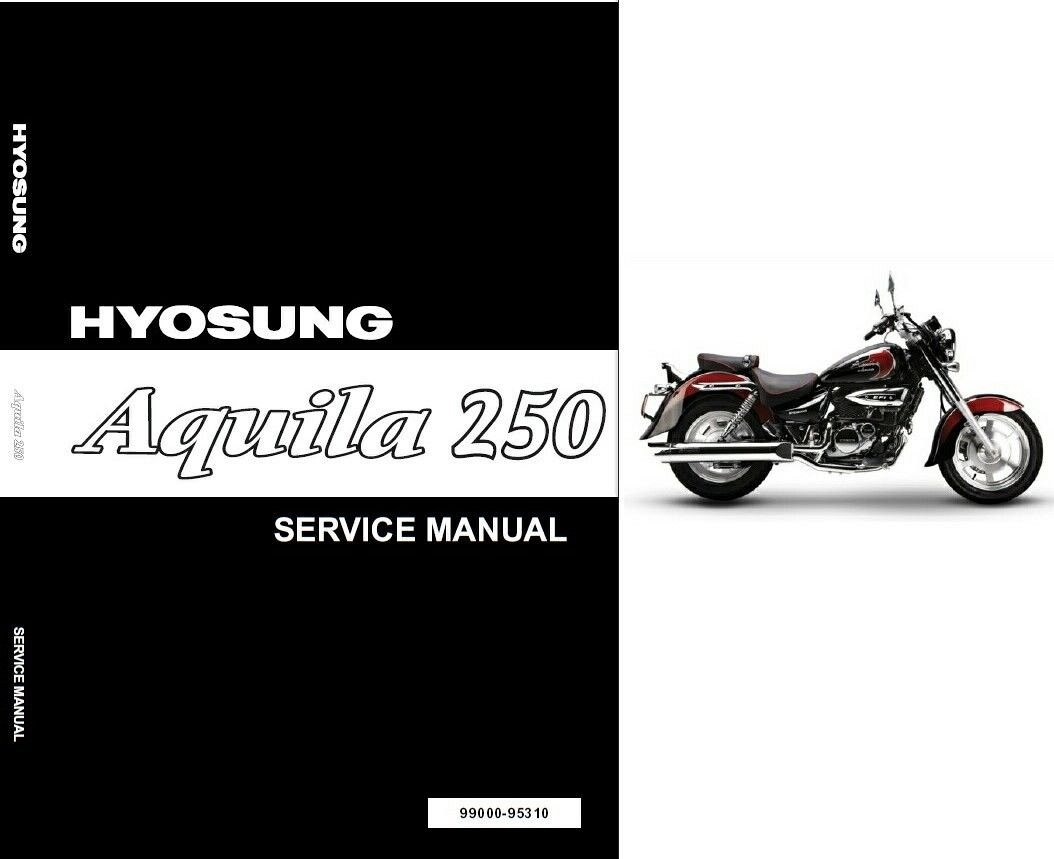 Hyosung Aquila 250 ( GV250 ) Service Manual CD - AlphaSports, S&T Motors  Mirage