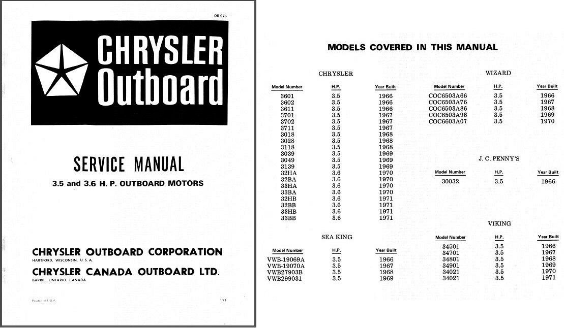 chrysler sea king viking j c penny wizard 3 5 3 6 hp outboards rh unisquare com Chrysler Outboard Motor Model 6603 Chrysler Outboard Part Numbers