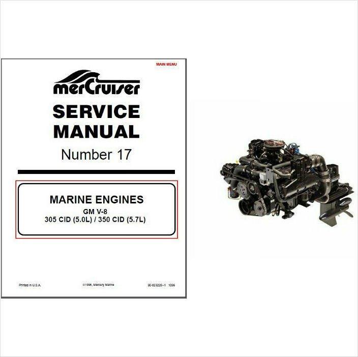93 97 mercruiser 17 gm v 8 5 0l 305 cid 5 7l 350 cid service rh unisquare com 305 Mercruiser Flywheel Cover 1986 Mercruiser 305 Long Block