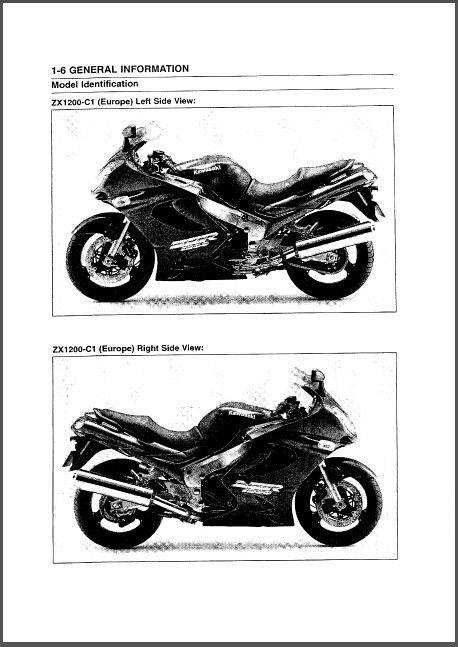 kawasaki zzr1200 full service repair manual 2002 2004