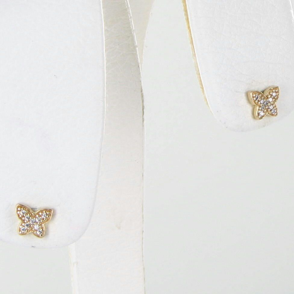 0c0f6e8dc Pandora 250320CZ Earrings Petite Butterfly 14k Yellow Gold C Zirconia NEW  $150 For Sale - Item #1704290