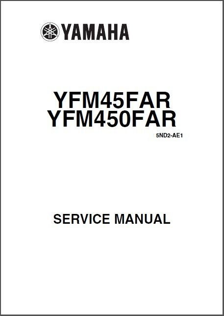 03 06 Yamaha YFM450FA Kodiak 450 ATV Service Repair Manual CD English French