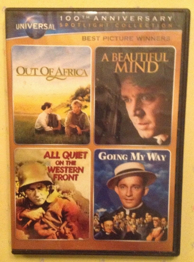 4movie DVD Out Of AfricaA Beautiful MindRobert REDFORD Meryl STREEP Ed HARRIS For Sale