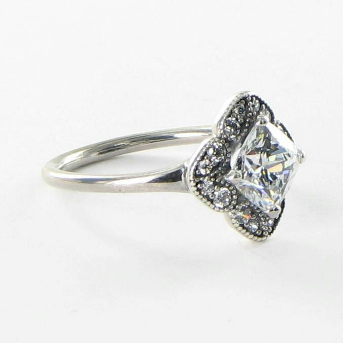 f3bd7490a8e53 Pandora 190966CZ Ring Sz 6.75 54 Crystallized Floral Fancy CZ 925 NEW $125