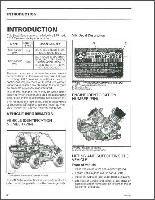 can am commander 800r 1000 workshop service repair manual 2013 1 download