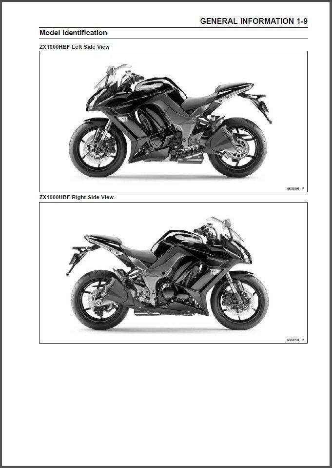 2011 2012 2013 Kawasaki Ninja 1000 Z1000sx Abs Service Manual On A