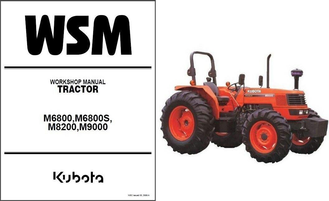 kubota m6800 m6800s m8200 m9000 tractor service workshop manual cd rh unisquare com kubota m9000 owners manual Kubota M9000 Clutch