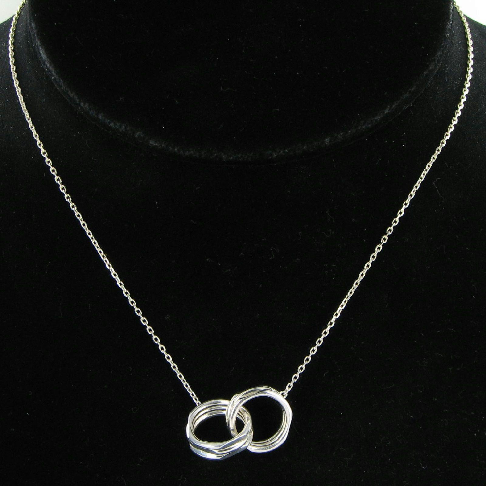 d1cbdae98de4 Links of London 5020.1364 Necklace 20/20 Interlock 45cm Sterling Silver New  $225 For Sale - Item #1704064