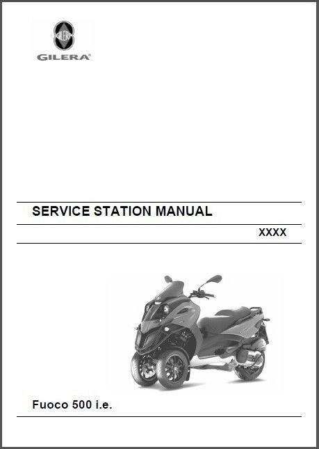 Gilera Fuoco 500 i e ( Piaggio MP3 500 ) Service & Parts Manual on a CD