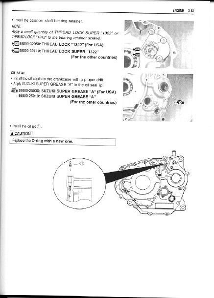 suzuki drz250 dr z250 2001 2009 bike repair service manual
