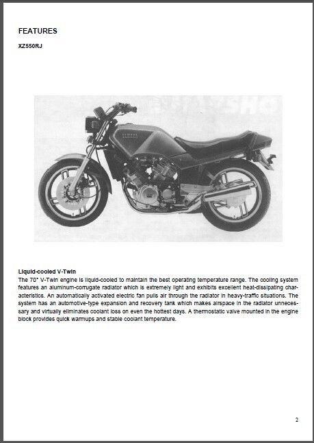 1982 yamaha xz550 parts