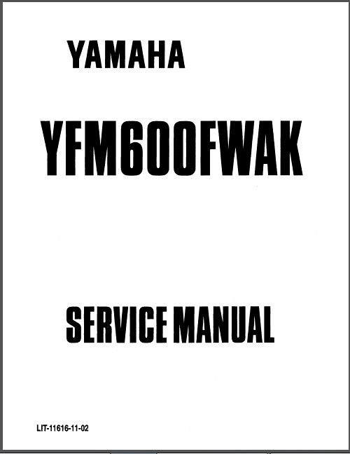 1898 1999 2000 2001 yamaha grizzly 600 yfm600 atv service manual rh unisquare com YFM Radio Kitai yamaha yfm 600 grizzly service manual
