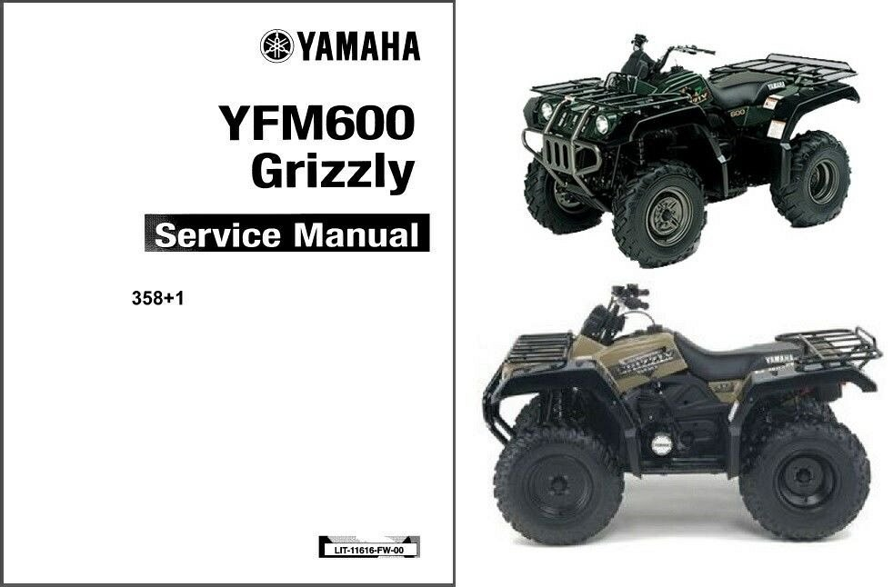 1898 1999 2000 2001 Yamaha Grizzly 600 Yfm600 Atv Service Manual On A Cd For Sale