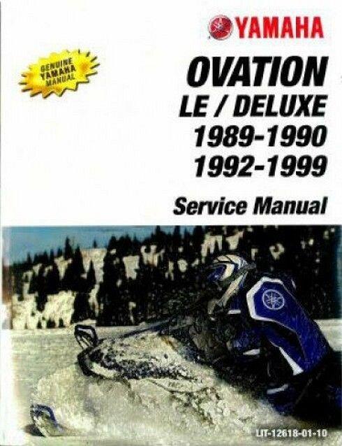 1989 1999 Yamaha Ovation 340 CS340 Snowmobile Service Manual On A CD For Sale