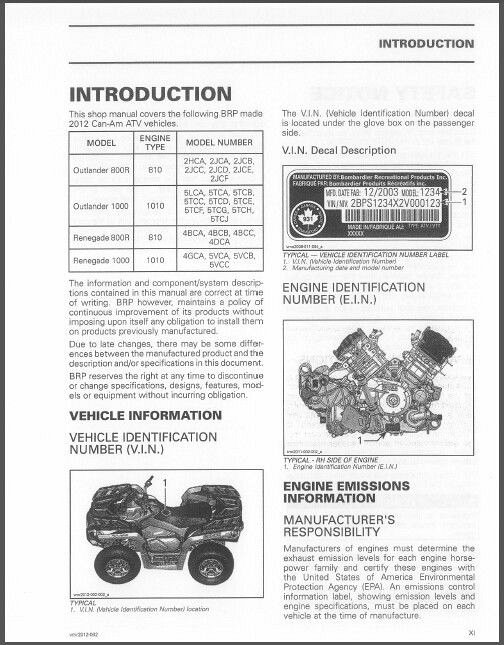 2012 can am outlander renegate 800r 1000 service manual on a cd for rh unisquare com 2012 can am commander 1000 xt service manual 2012 can am ds 90 service manual