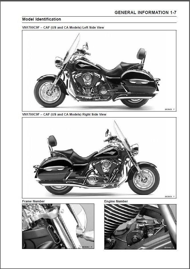 kawasaki vn1700 classic tourer abs full service repair manual 2009 2010