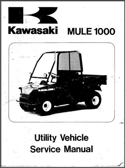 Kawasaki Mule 1000 UTV Service Repair Manual CD .. KAF450 on