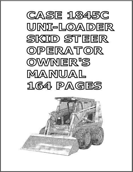 Case 1845C Skid Steer Loader Service, Parts & Operation Manual on a CD