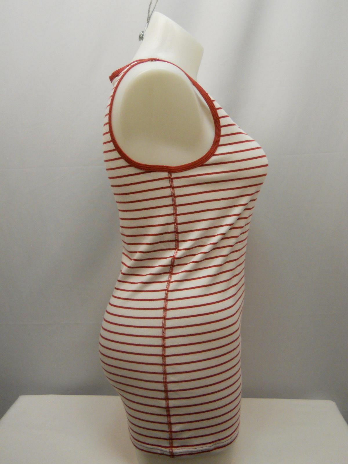 e58b9b601768b Women Ribbed Tank Top Red Rum Stripe Sleeveless Scoop Neck TIME AND TRU For  Sale - Item  1839285