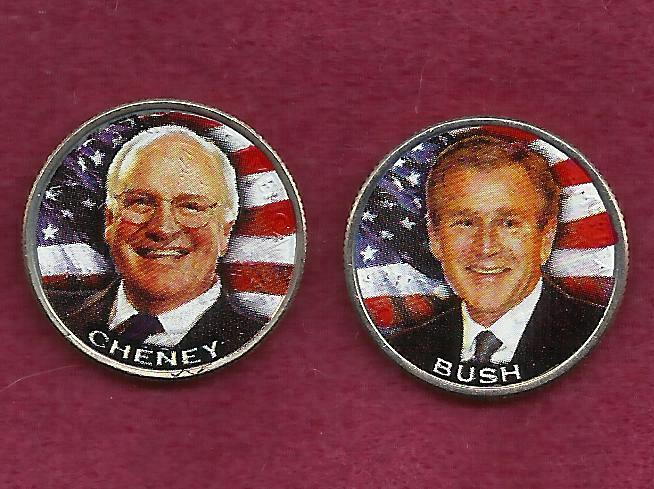 2004 - 25 Cent Texas State Quarters (President Bush & VP ...