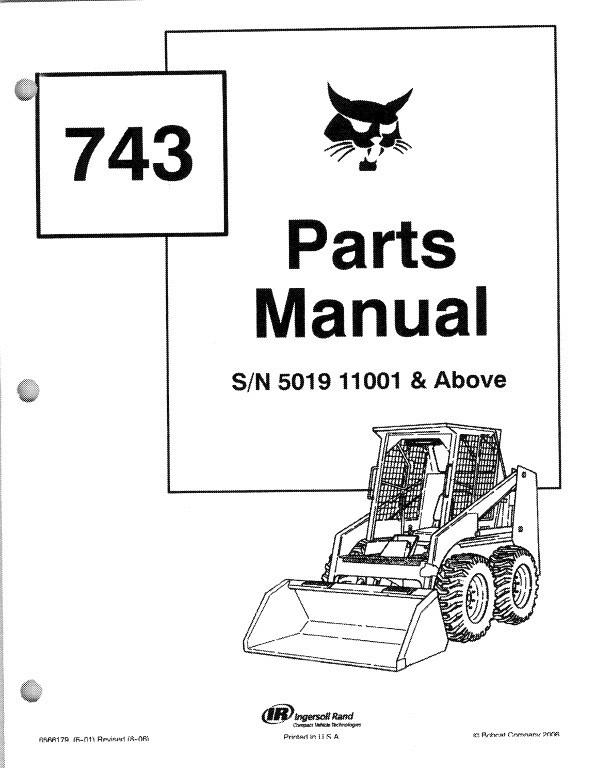bobcat 743 skid steer loader parts manual on a cd for sale item rh unisquare com Bobcat 743B Glow Plug Location Bobcat 743 Service Manual