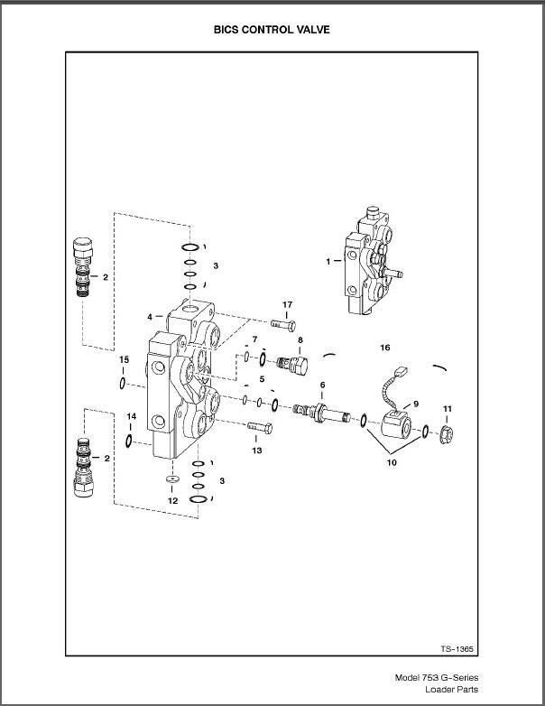 bobcat 753 g-series skid steer loader parts manual on a cd for sale - item  #1825412