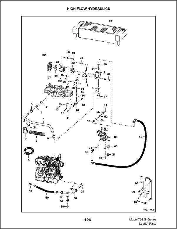 bobcat 763 g-series skid steer loader parts manual on a cd for sale - item  #1825414
