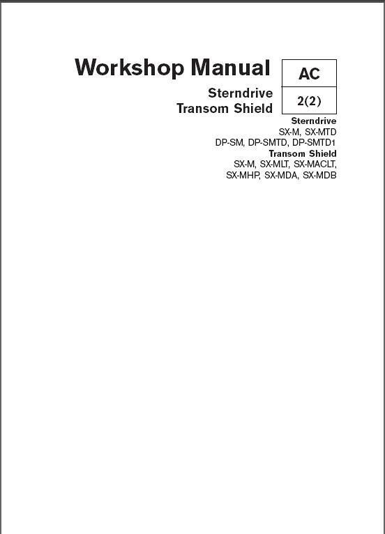 volvo penta sterndrive sx dp transom shield sx service rh unisquare com volvo penta sx service manual pdf volvo penta sx outdrive service manual