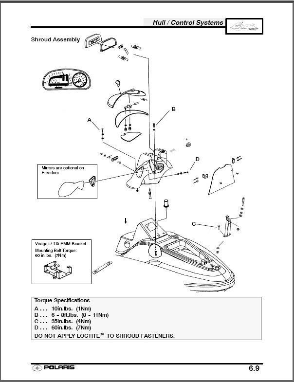 2002 Polaris Freedom / Virage / Genesis Personal Watercraft Service Manual  on CD