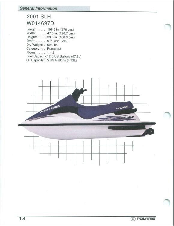 2001 polaris slh virage personal watercraft pwc service manual rh unisquare com