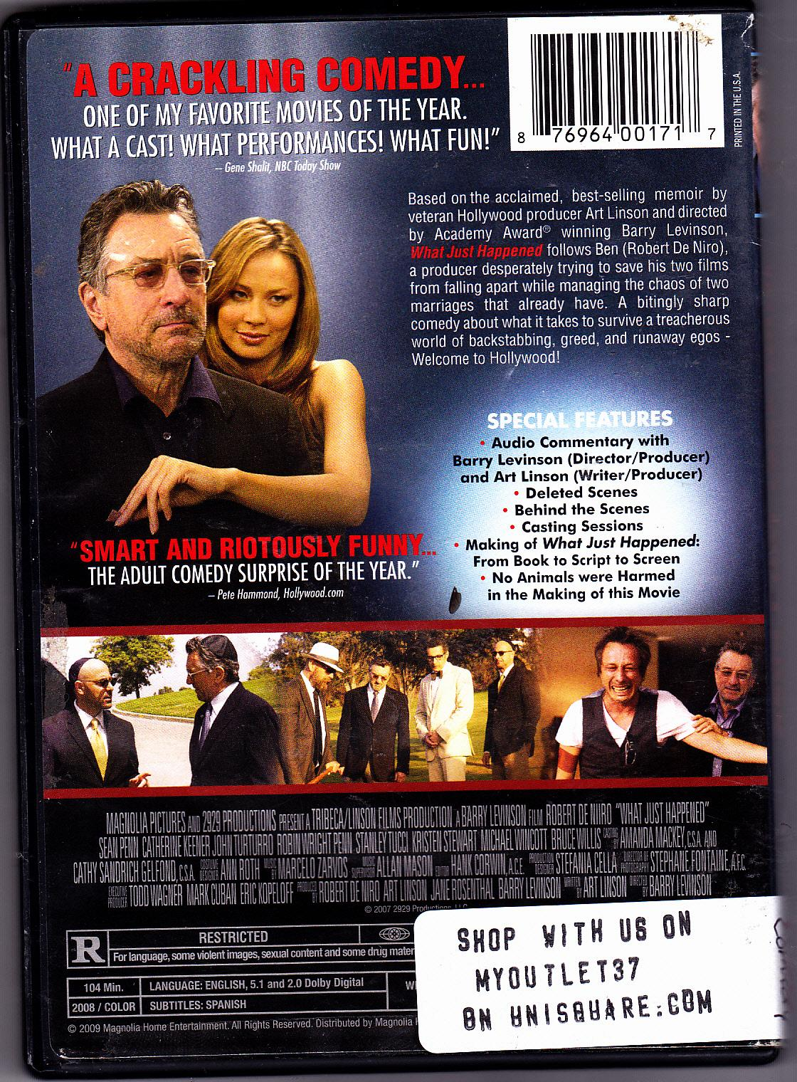 All Comedy Movies In 2009 what just happened? dvd 2009 - good